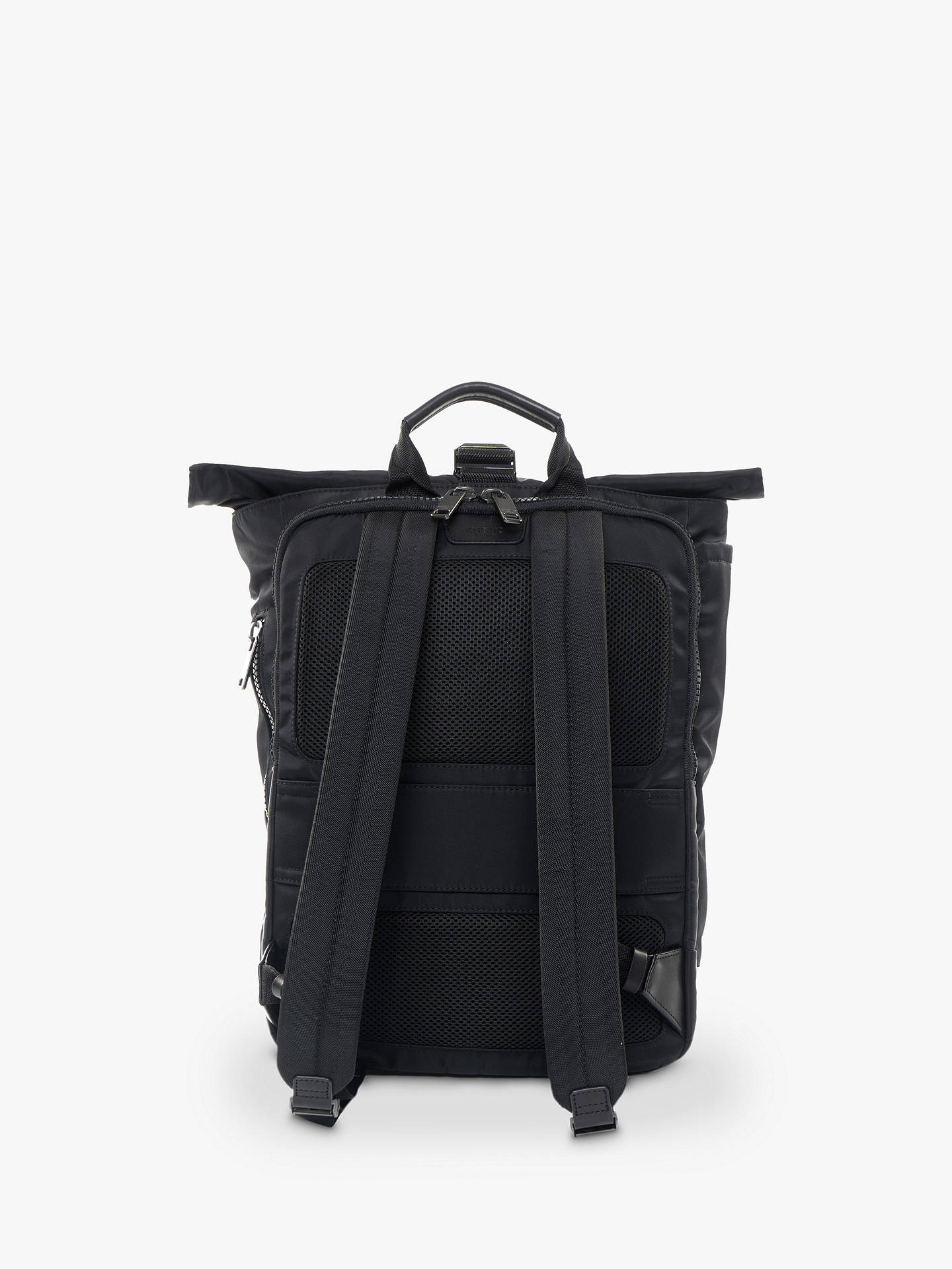 "Buy KNOMO Novello Roll-Top Backpack for Laptops up to 15"", Black Online at johnlewis.com"