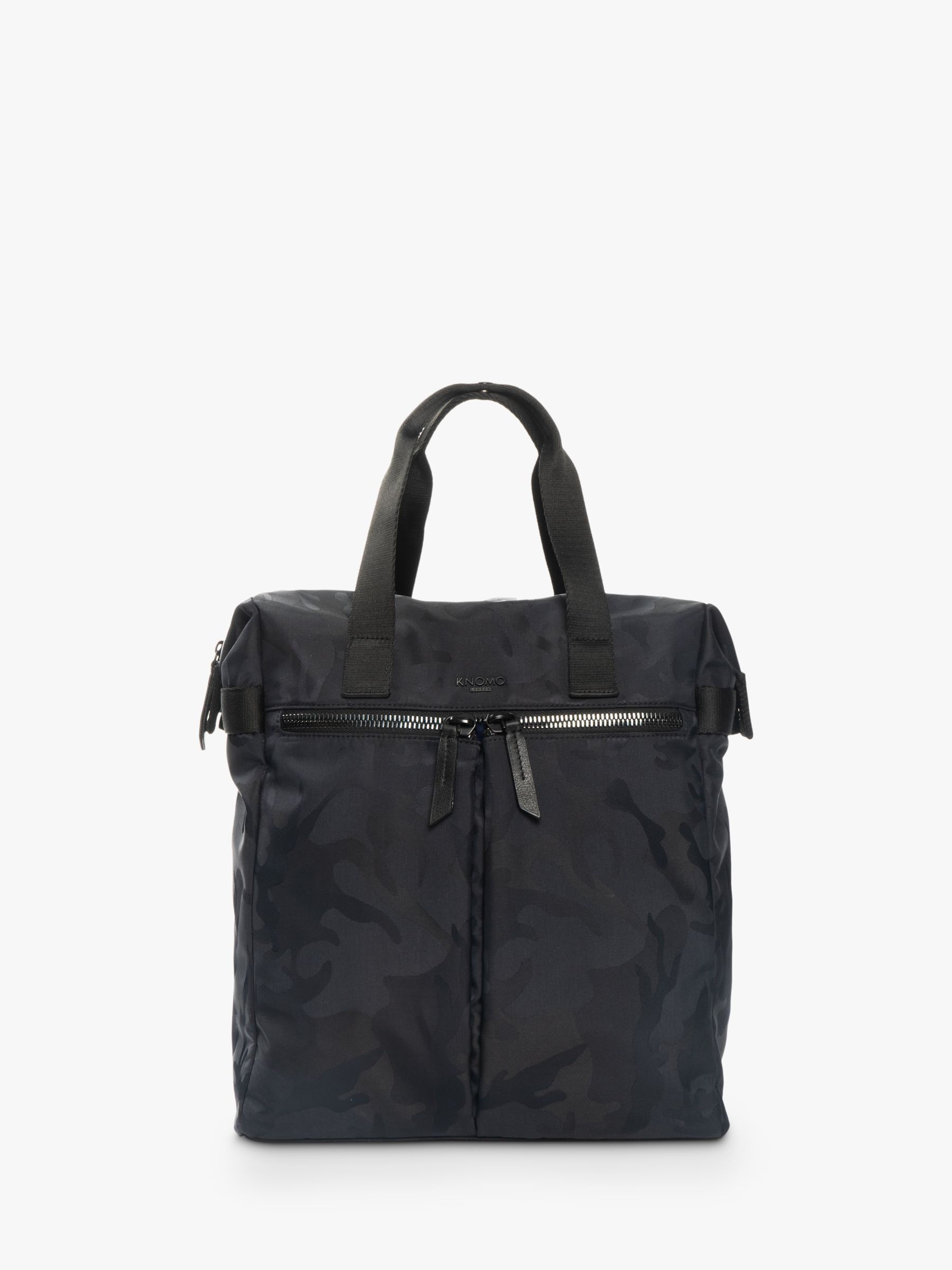 Knomo KNOMO Santiago Tote Backpack for Laptops up to 14, Black Camouflage