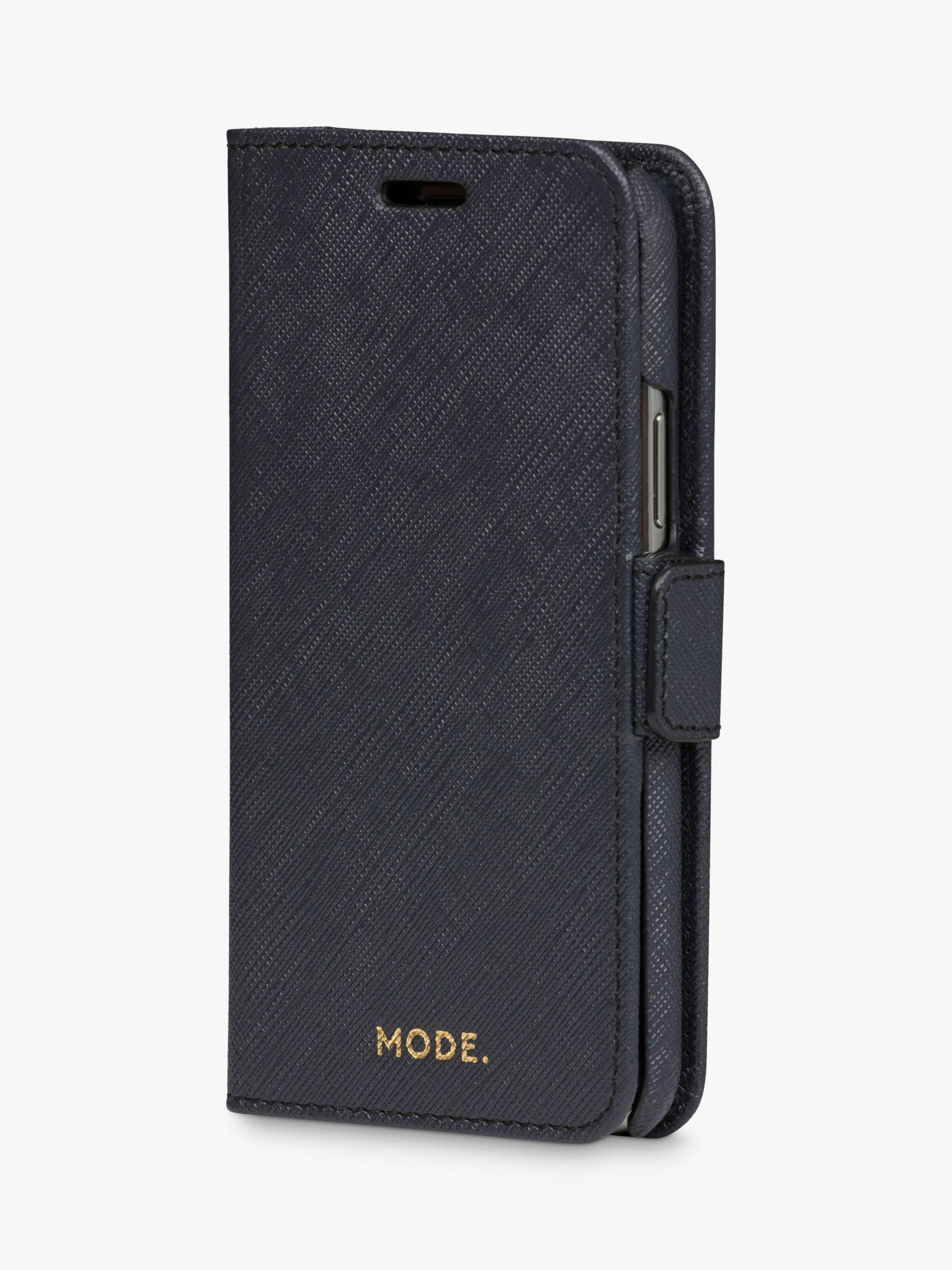 dbramante1928 MODE New York Leather dbramante1928 Folio/Cradle Case for iPhone 11 Pro, Night Black