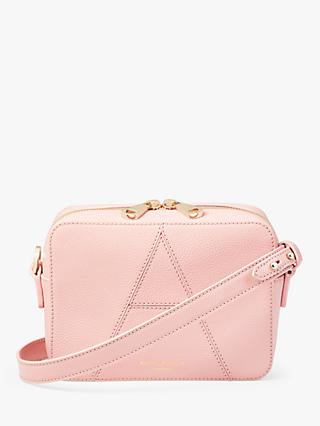 Aspinal of London Grained Leather Camera Cross Body Bag, Bloomsbury