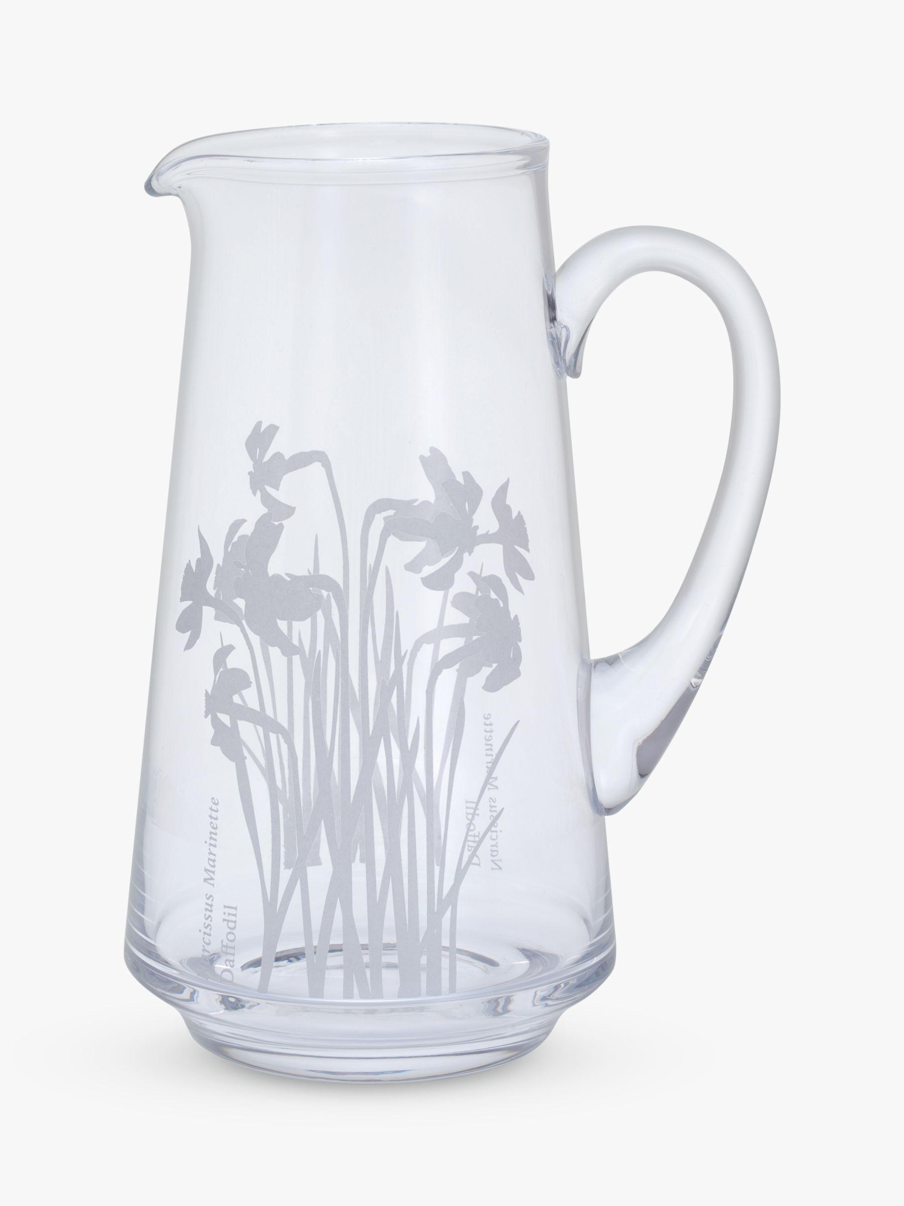 Dartington Crystal Dartington Crystal Bloom Daffodil Jug Vase, H22.5cm
