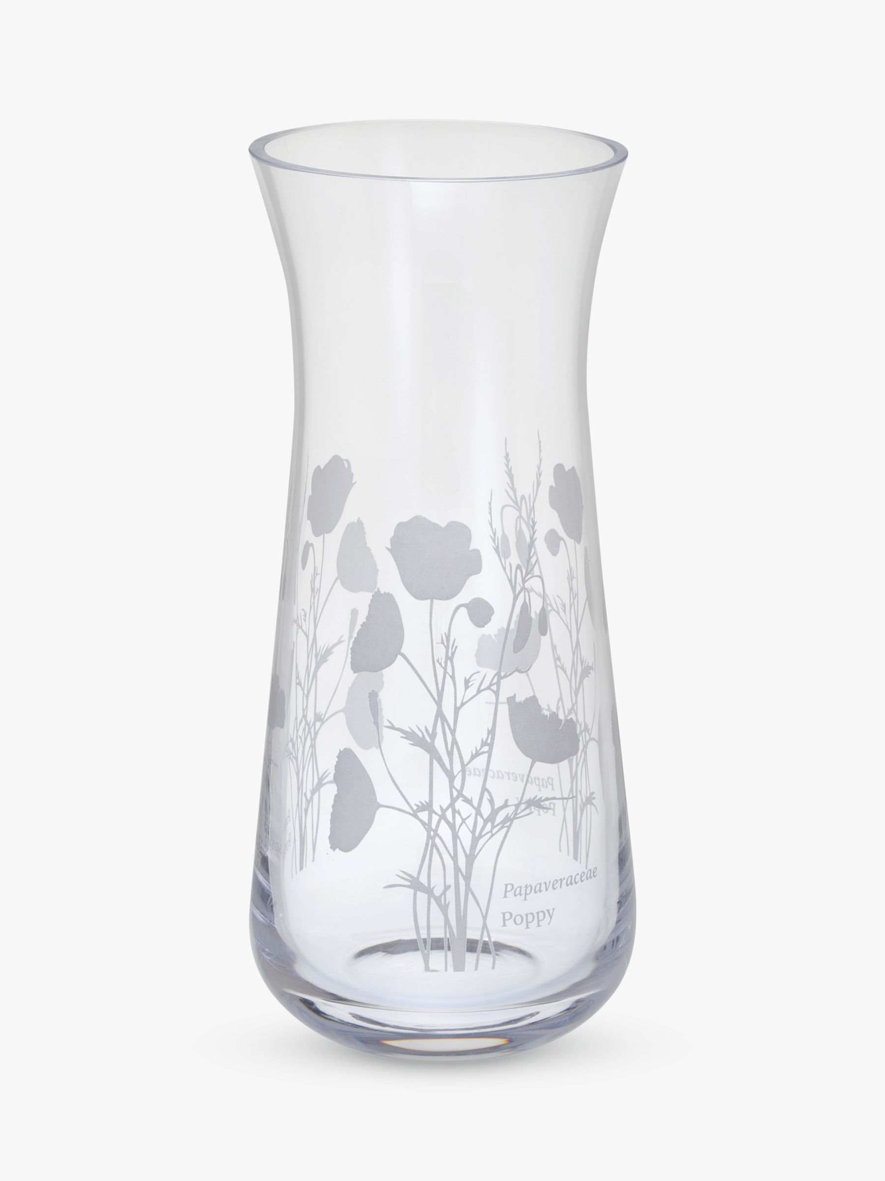 Dartington Crystal Dartington Crystal Bloom Poppy Vase, H18cm