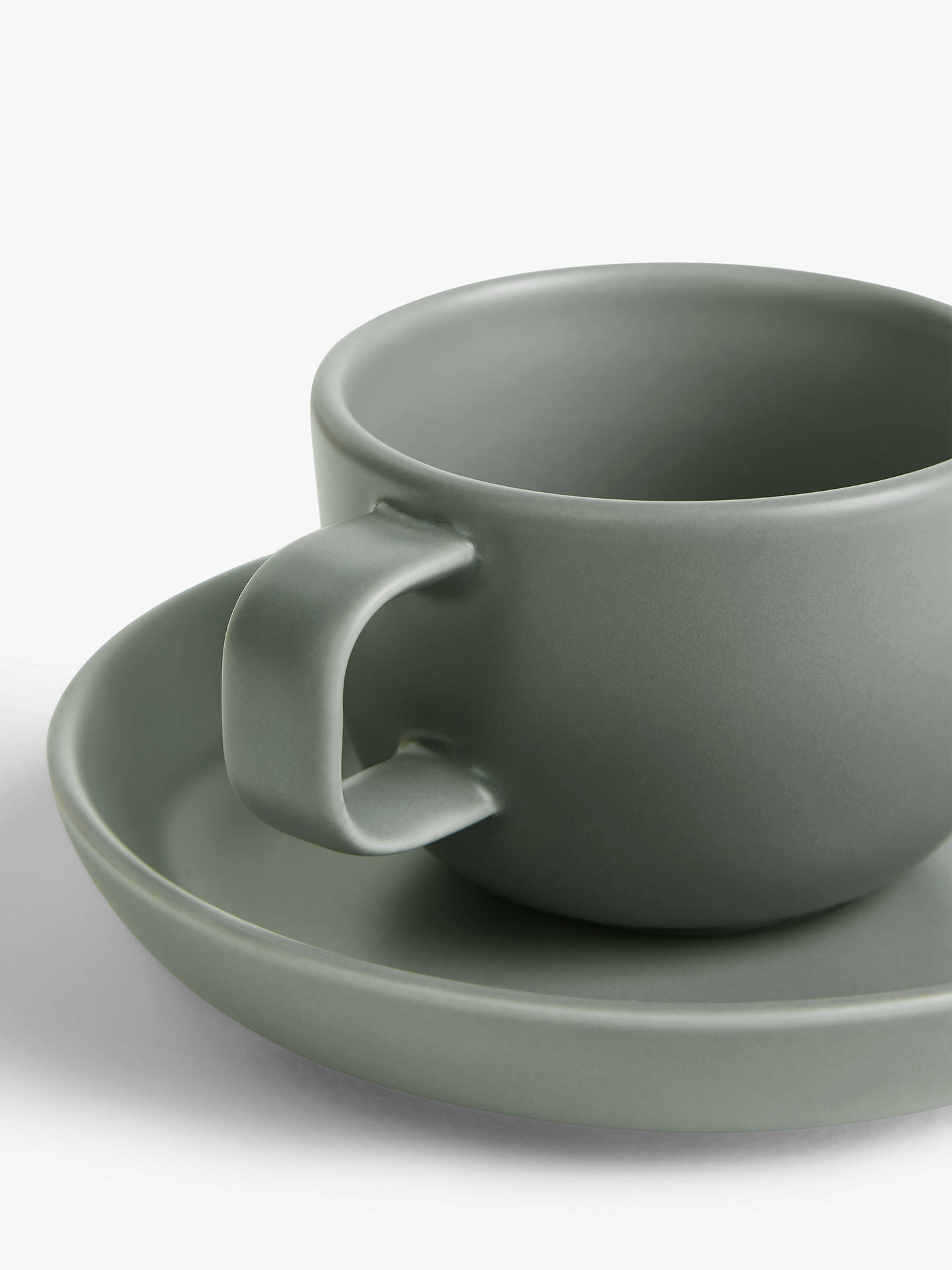 John Lewis & Partners Nordica Espresso Cup & Saucer, 100ml, Grey