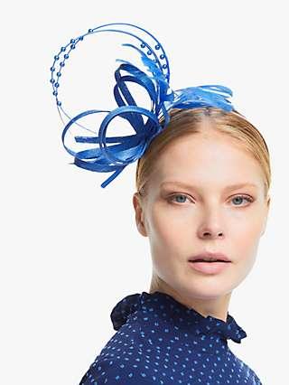 John Lewis & Partners Elle Feather Quills Faux Pearl Loop Fascinator