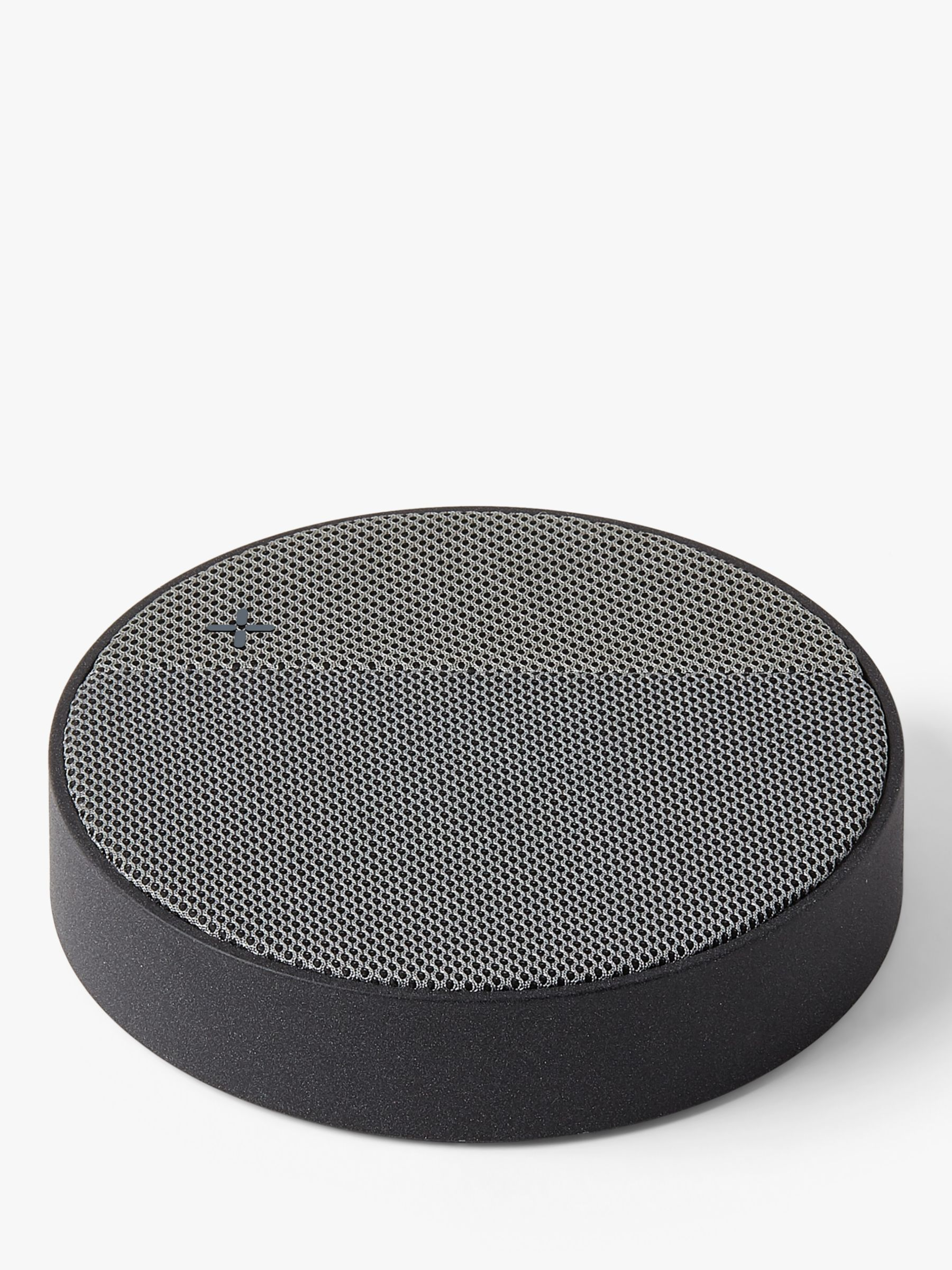 Lexon Lexon Oslo Energy Qi Wireless Charging Pad & Portable Bluetooth Speaker, Dark Grey/Grey