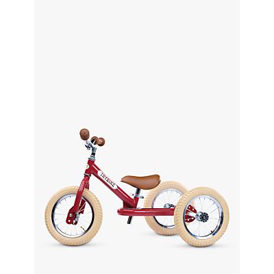 Trybike 2 In 1 Vintage Balance Trike, Red