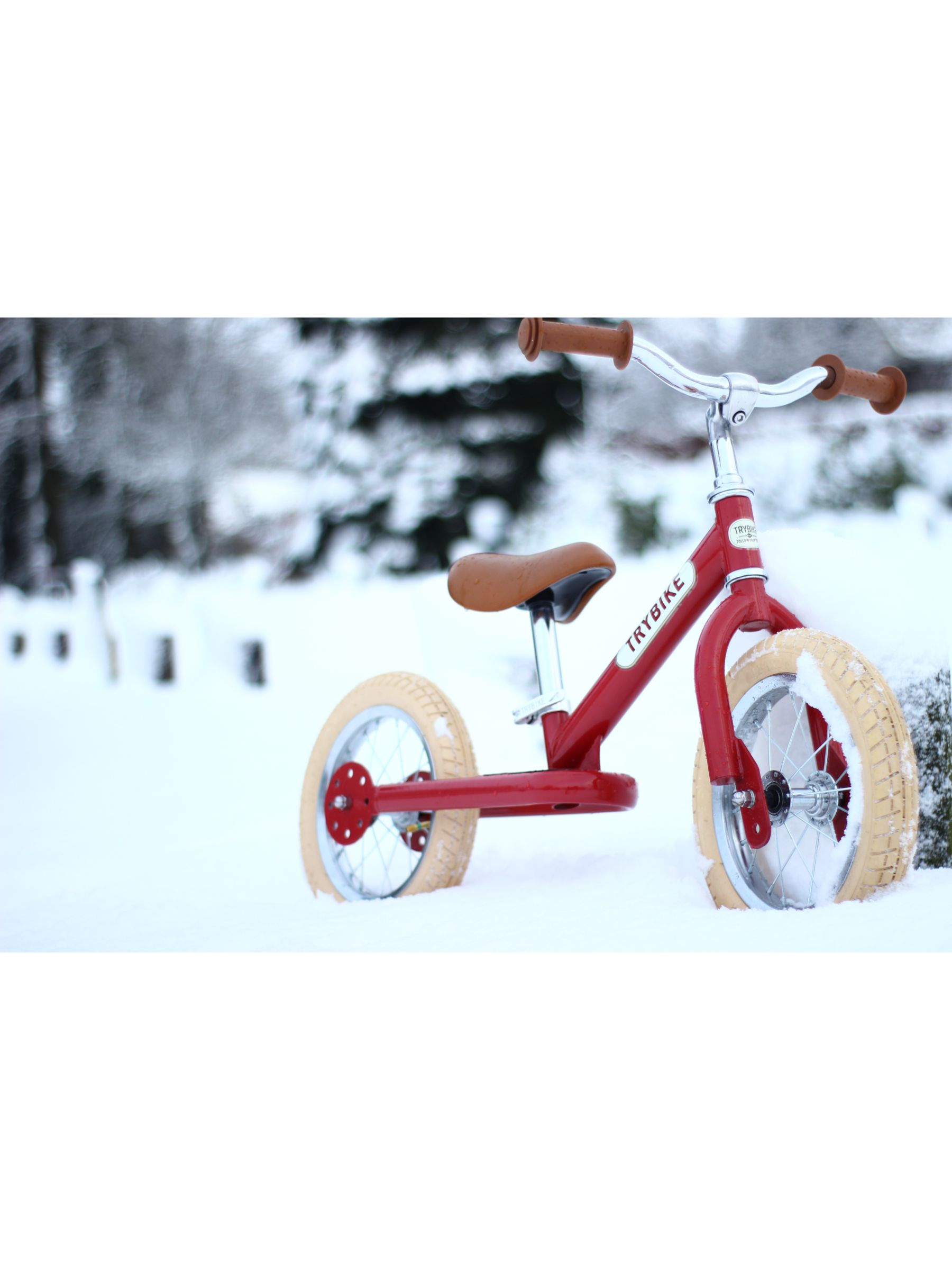 Trybike 2 In 1 Vintage Balance Trike Red At John Lewis Partners
