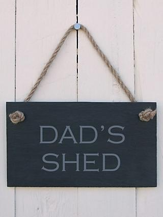 The House Nameplate Company Dad's Shed Slate Sign