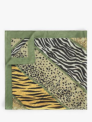 Unmade Safira Animal Print Square Silk Scarf