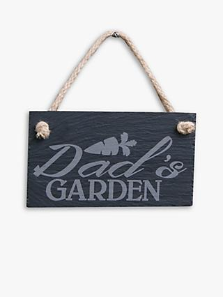 The House Nameplate Company Dad's Garden Slate Sign
