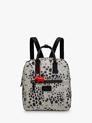 Radley Leopard Print Small Backpack, Aluminium