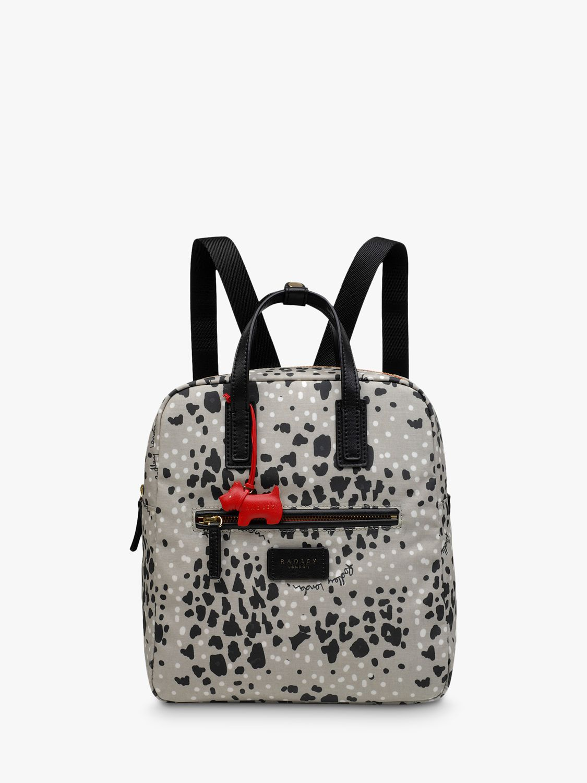 Radley Radley Leopard Print Small Backpack, Aluminium