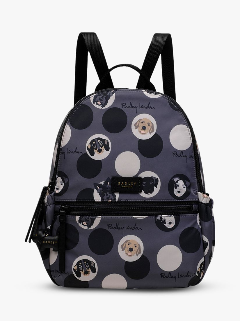 Radley Radley Radley & Friends Dog Trust Medium Zip Around Backpack, Charcoal