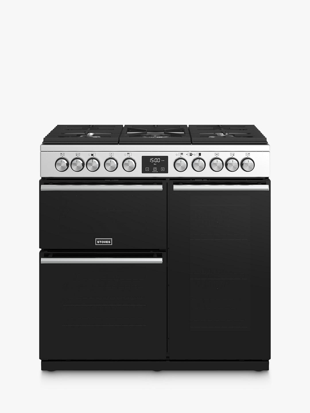 Buy Stoves Precision Deluxe S900DF Dual Fuel Range Cooker, A/A/A Energy Rating, Stainless Steel Online at johnlewis.com