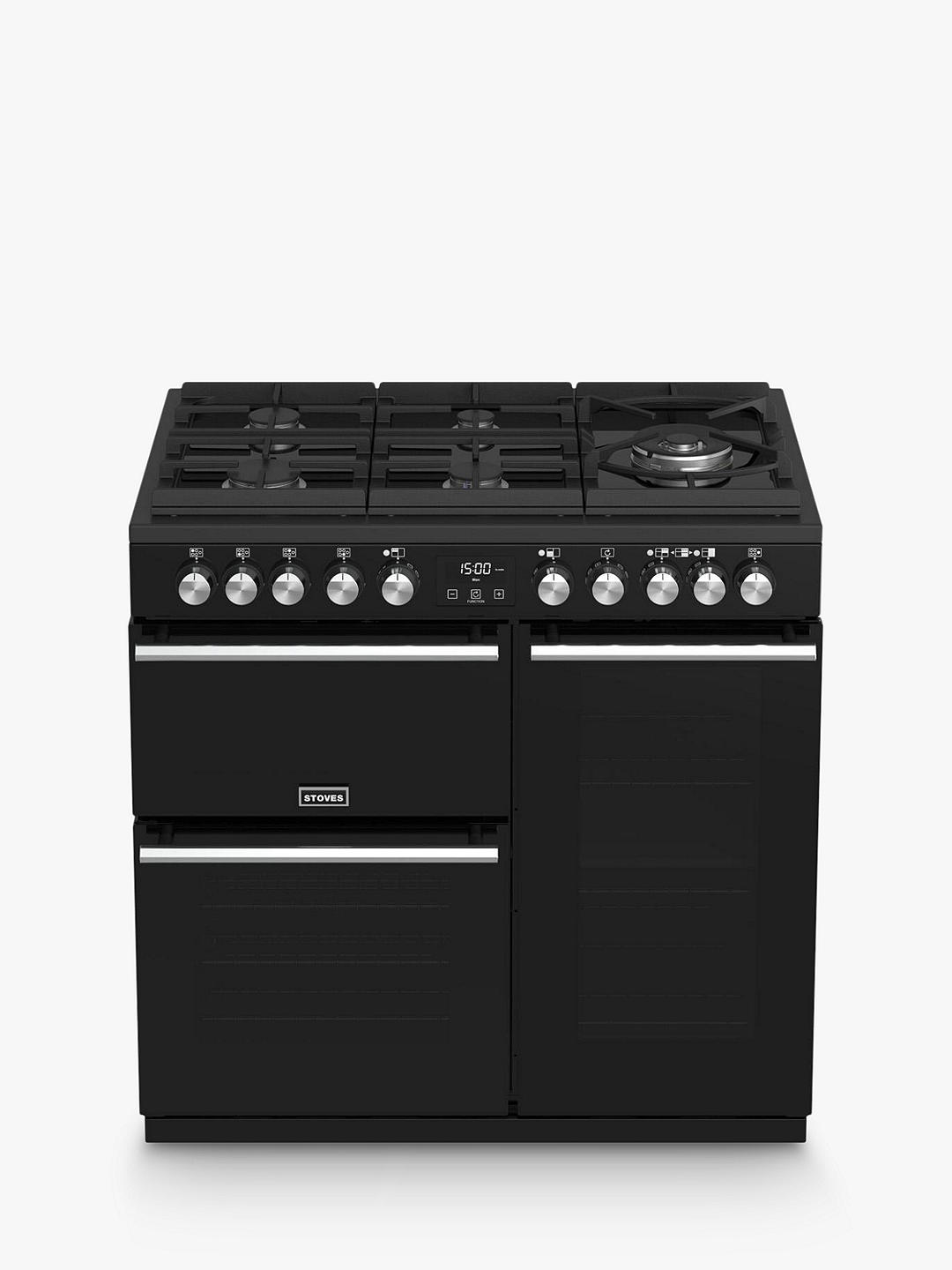 Buy Stoves Precision Deluxe S900GTG Dual Fuel Range Cooker, A/A/A Energy Rating, Black Online at johnlewis.com
