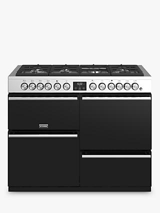 Stoves Precision Deluxe S1100DF Dual Fuel Range Cooker, A/A/A Energy Rating, Black