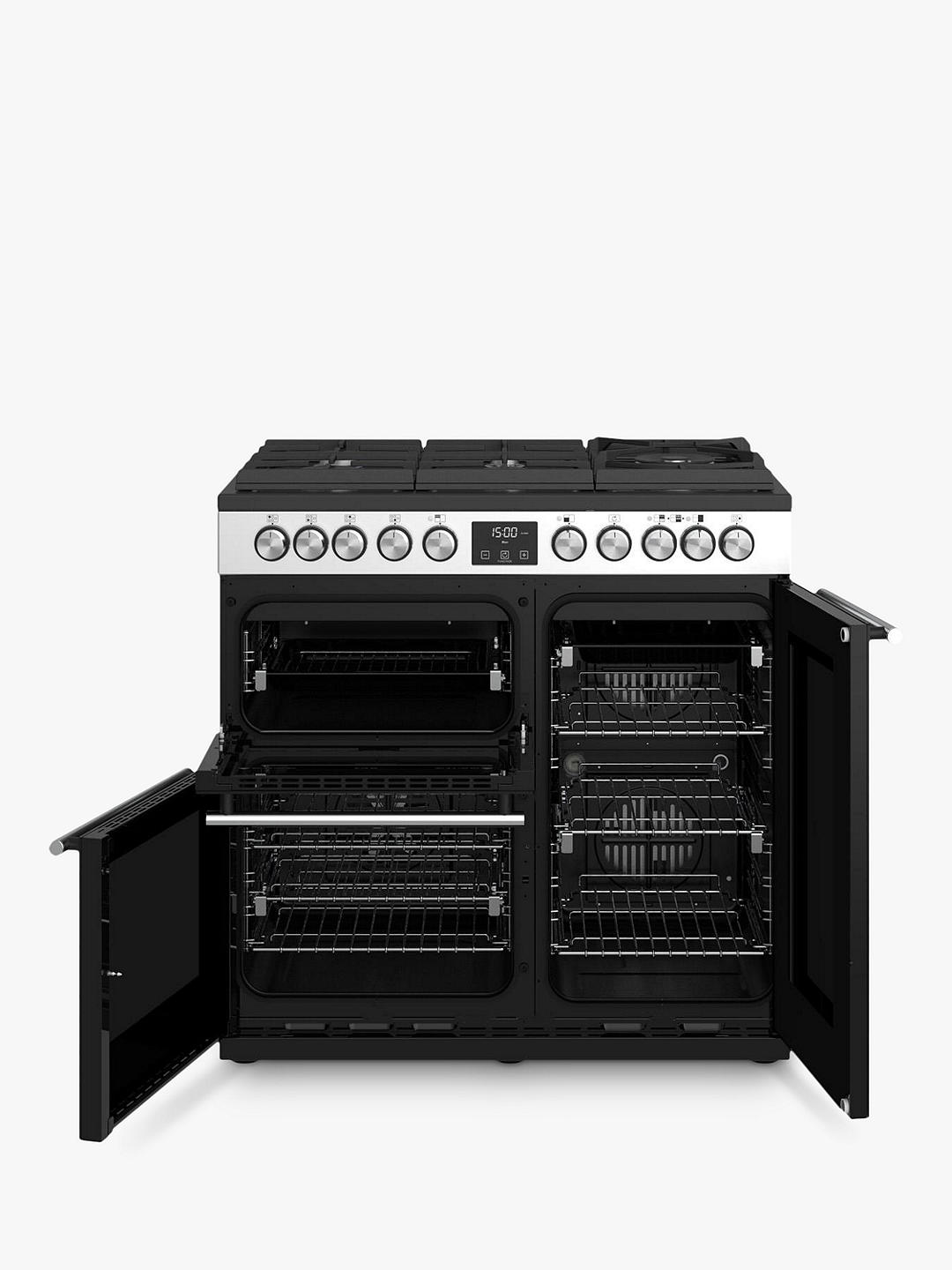 Buy Stoves Precision Deluxe S900GTG Dual Fuel Range Cooker, A/A/A Energy Rating, Stainless Steel Online at johnlewis.com