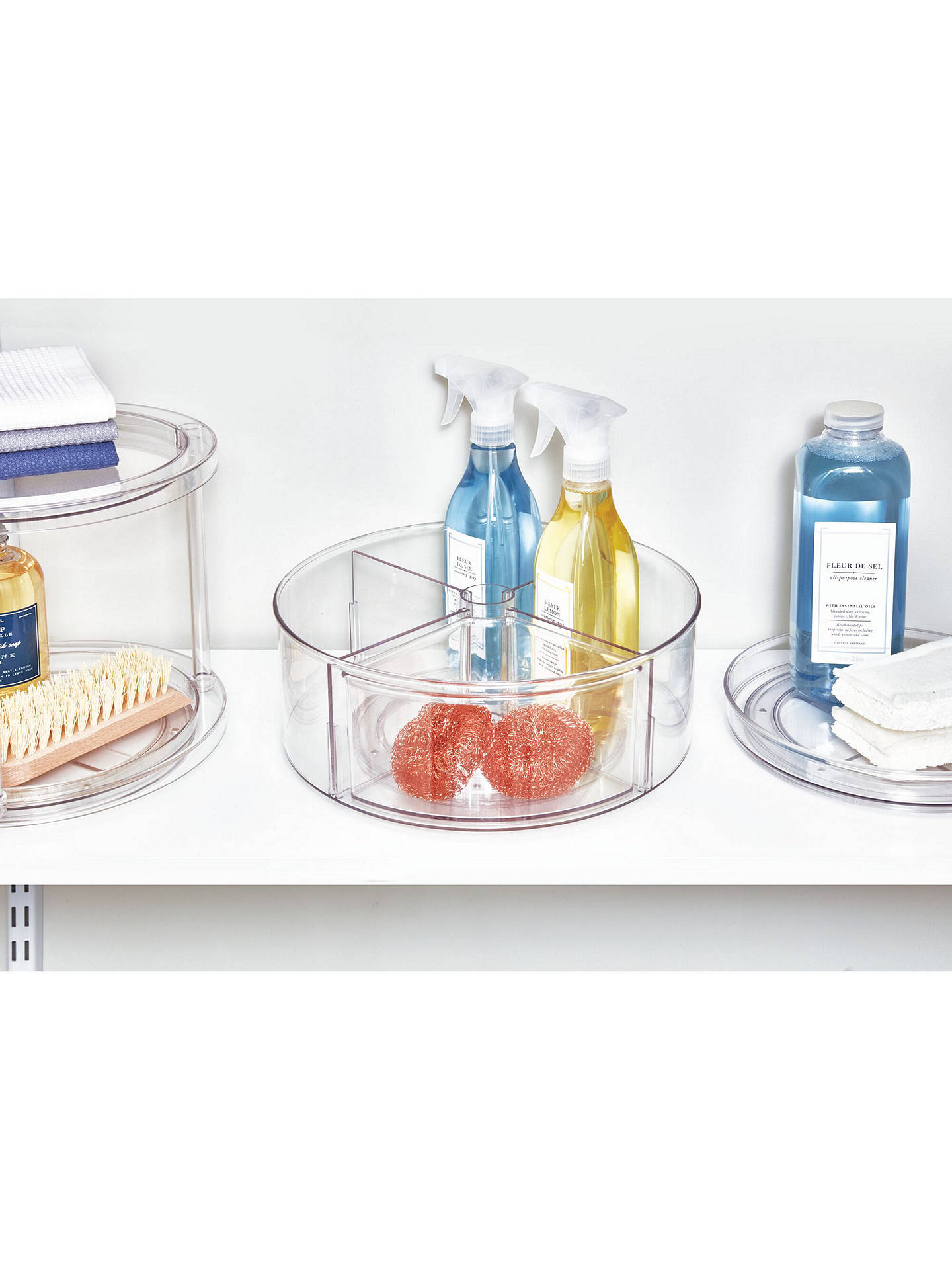 Buy The Home Edit & iDesign Divided Turntable Storage Container Online at johnlewis.com
