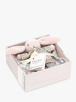 Jellycat Blossom Bunny Soft Toy and Muslin Gift Set, Pink