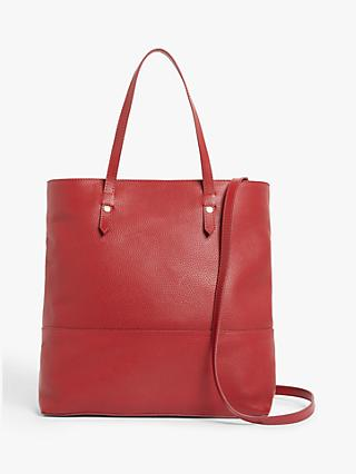 John Lewis & Partners Leather Work Tote Bag