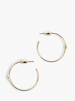 hush Isabella Star Hoop Earrings, Gold