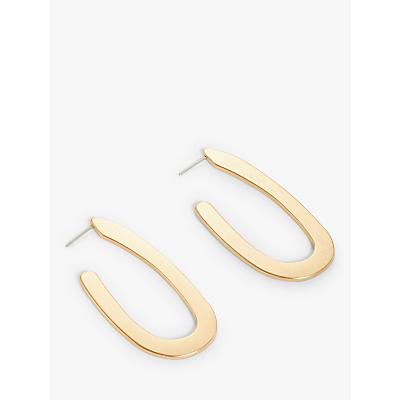 John Lewis & Partners Abstract Hoop Earrings, Gold