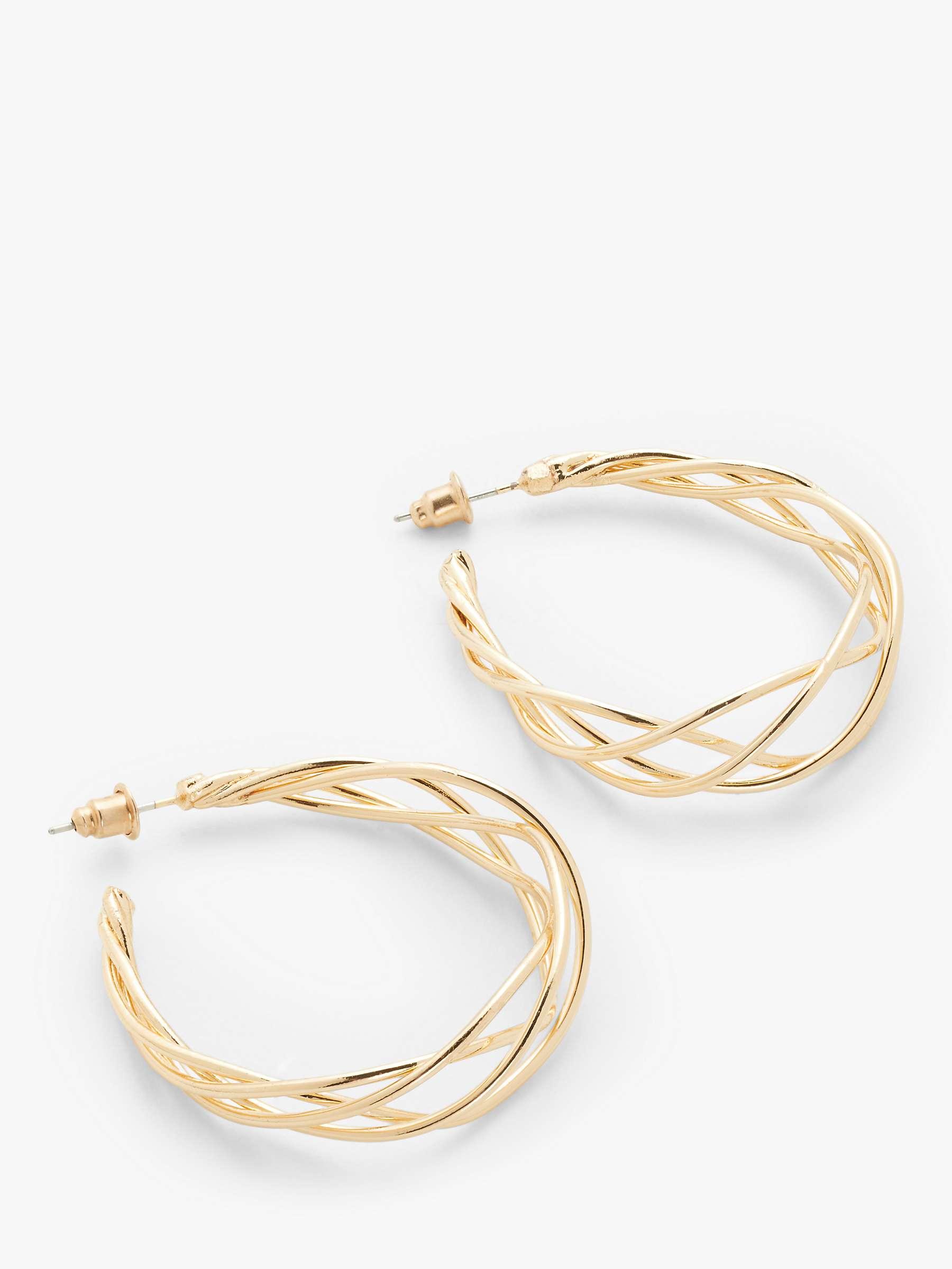 Wire Hoop Earrings Gold At John Lewis