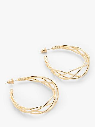 John Lewis & Partners Wire Hoop Earrings, Gold