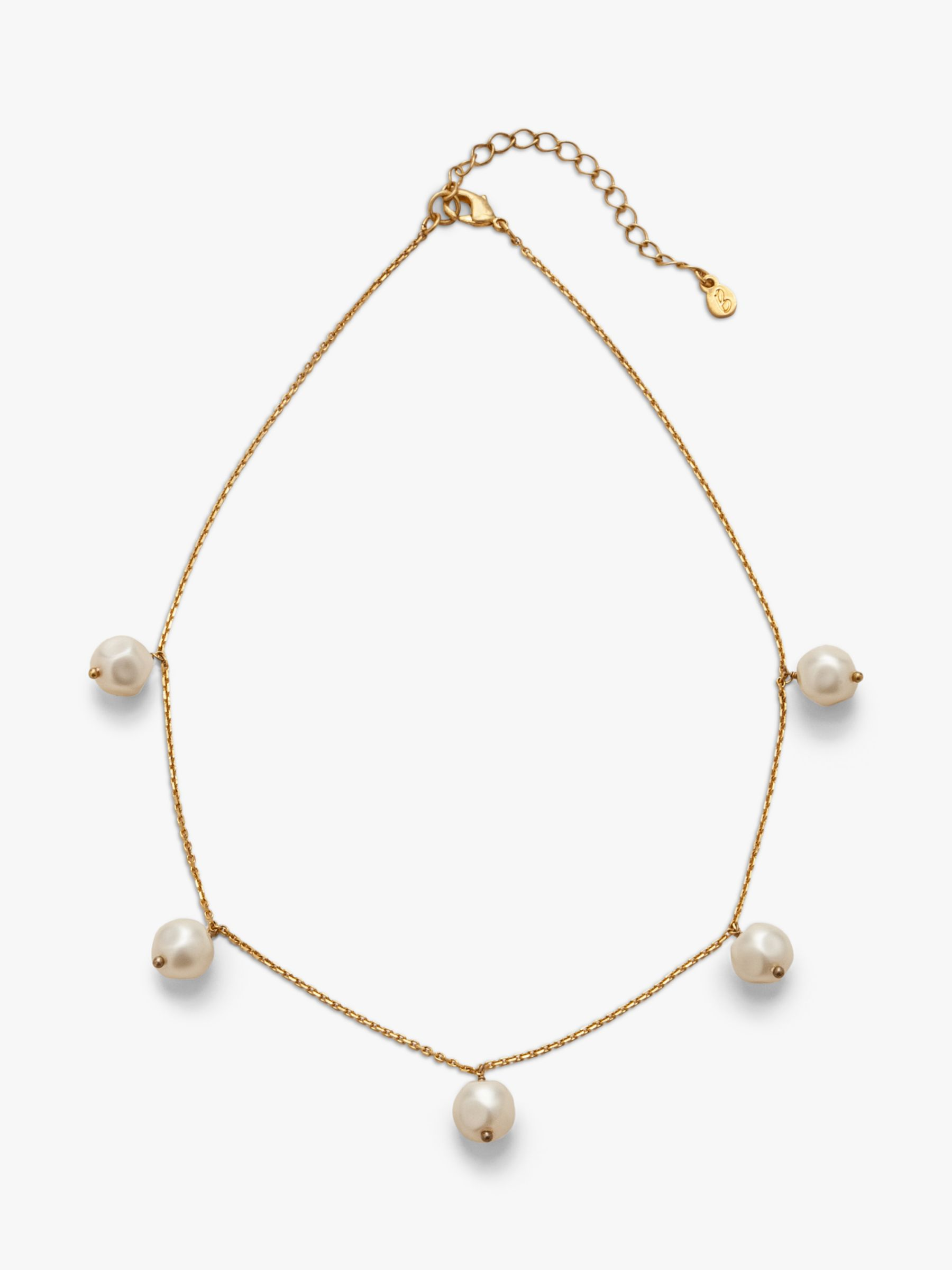 Boden Boden Faux Pearl Necklace, Gold