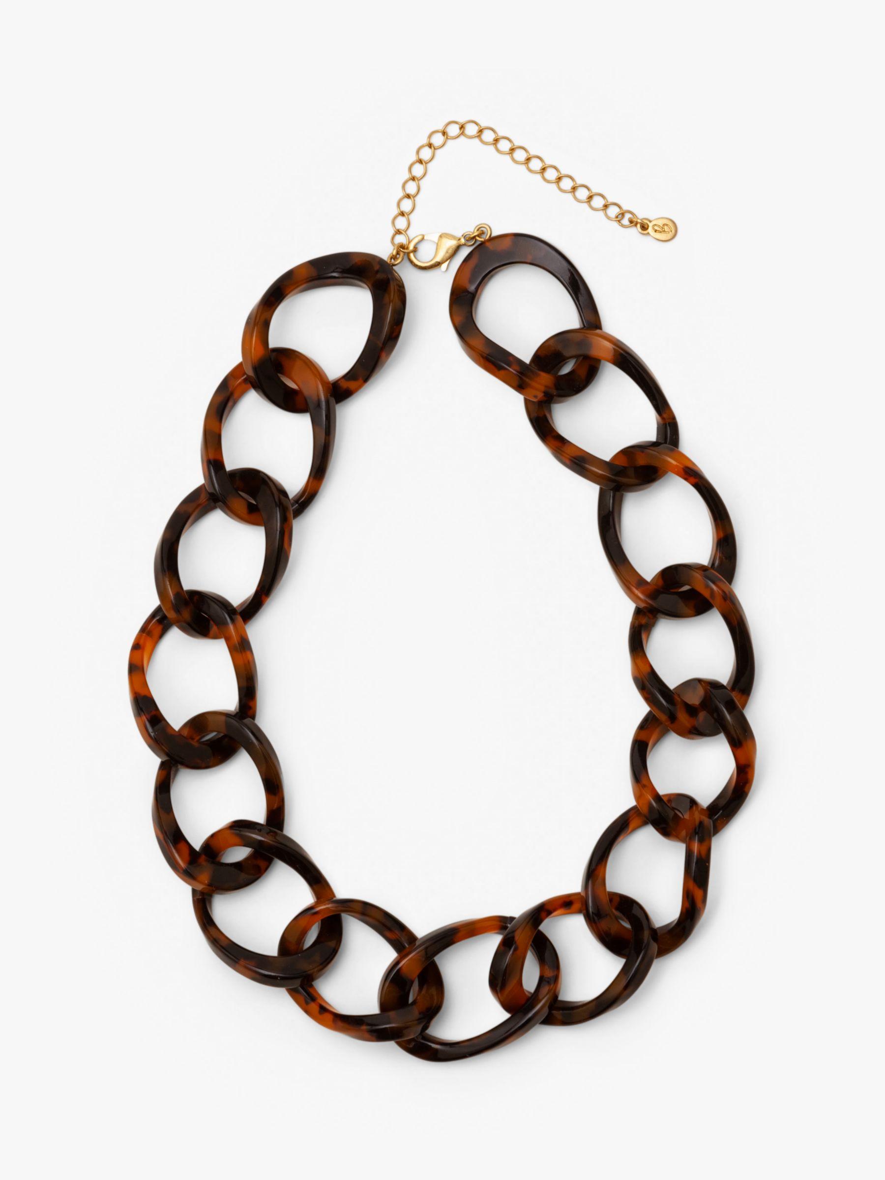 Boden Boden Resin Link Necklace, Brown