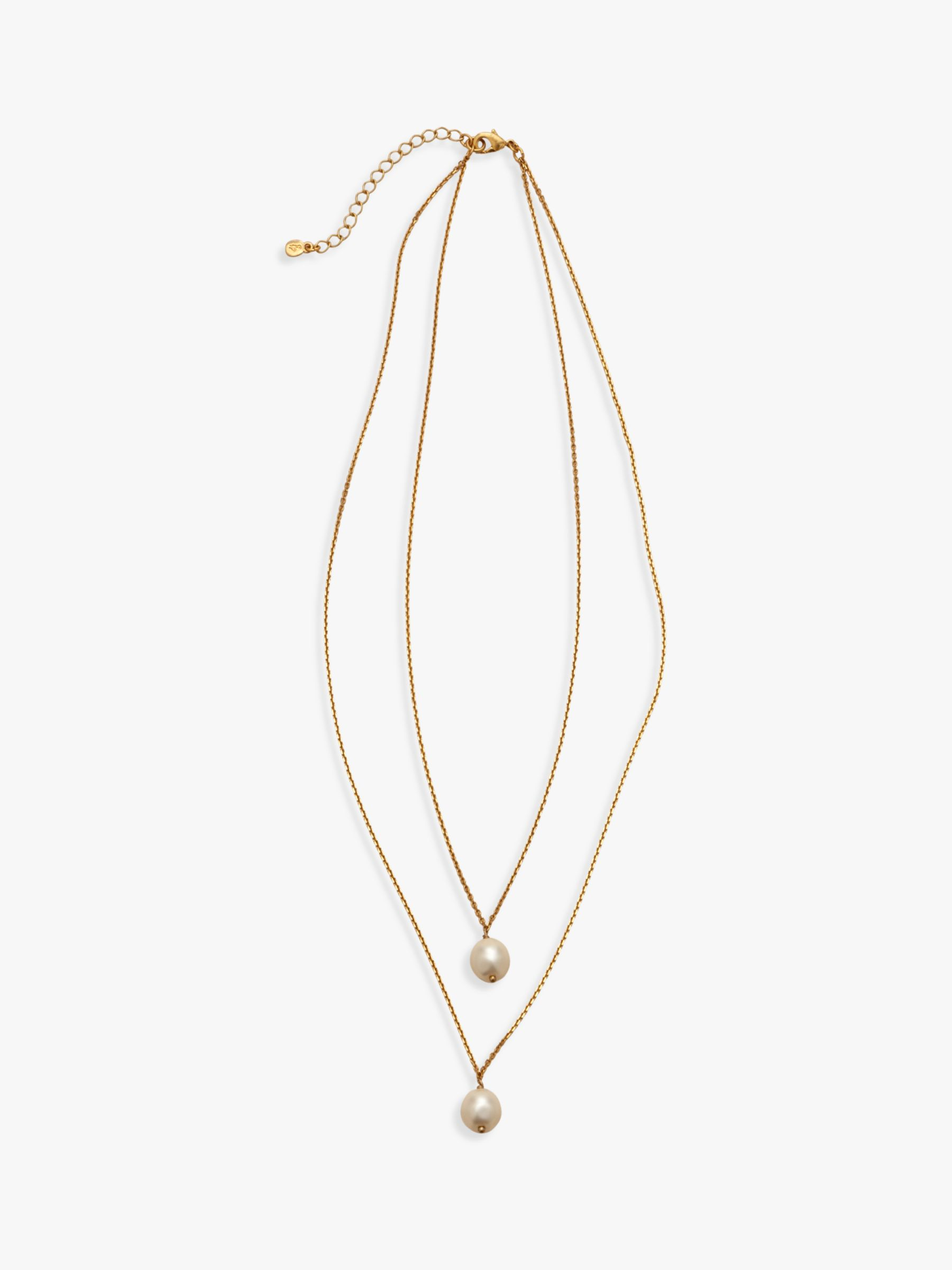 Boden Boden Faux Pearl Pendant Necklace, Glold