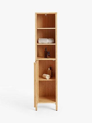 John Lewis Partners Chevron Tallboy, Tall Bathroom Cabinets Ikea
