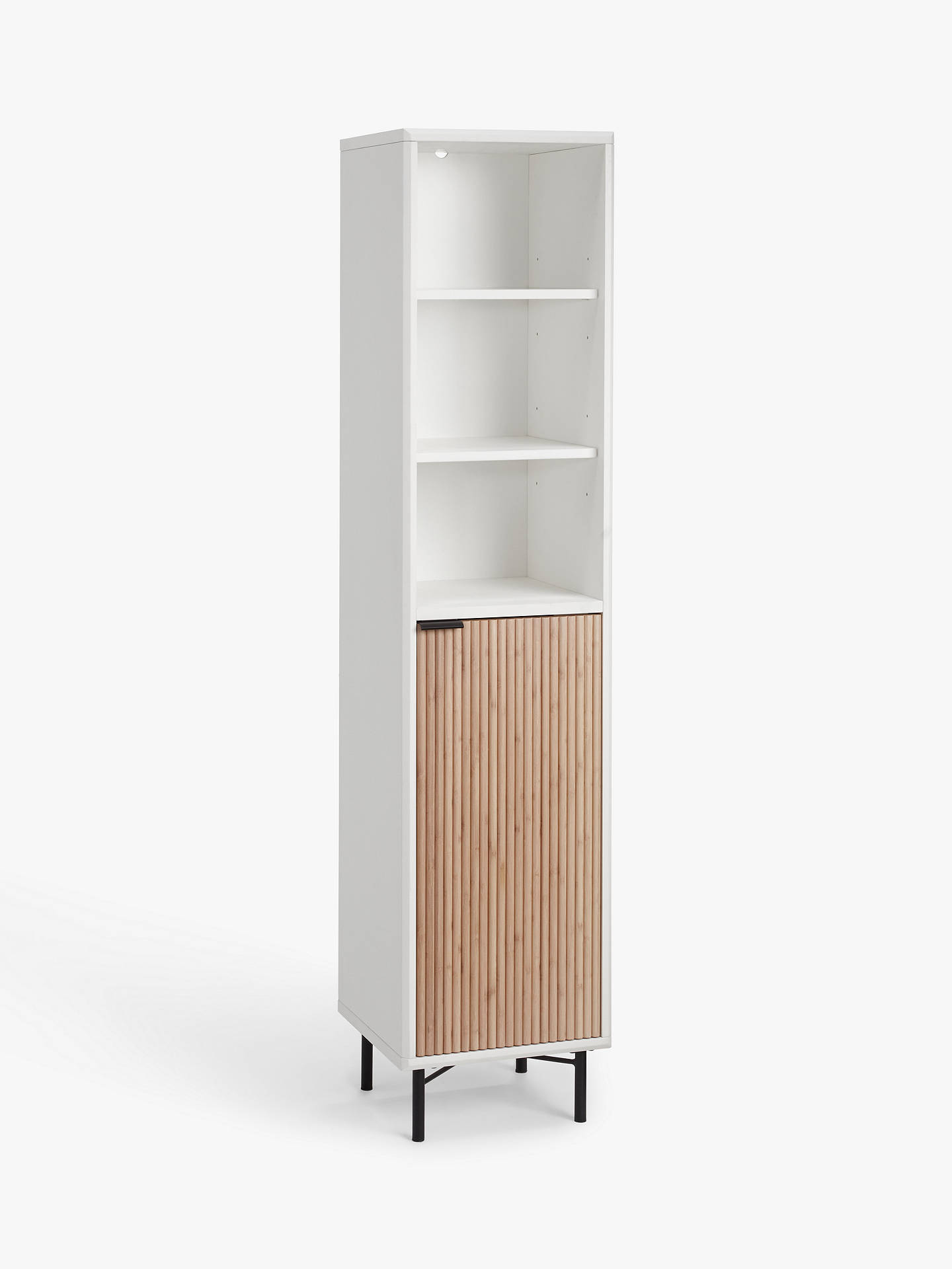 House By John Lewis Ridge Tallboy Bathroom Cabinet White At John Lewis Partners