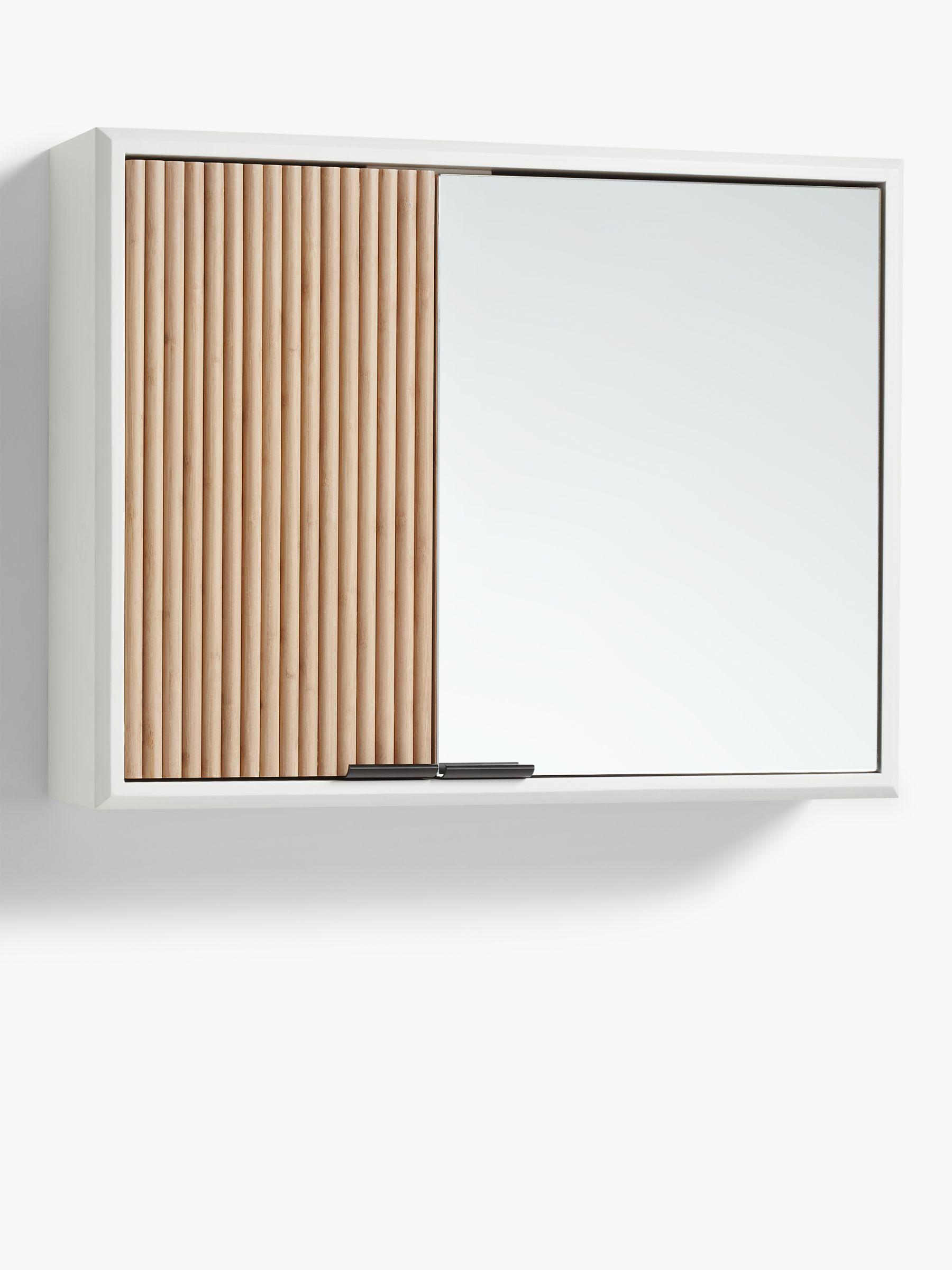 Anyday John Lewis Partners Ridge Double Mirrored Bathroom Cabinet White