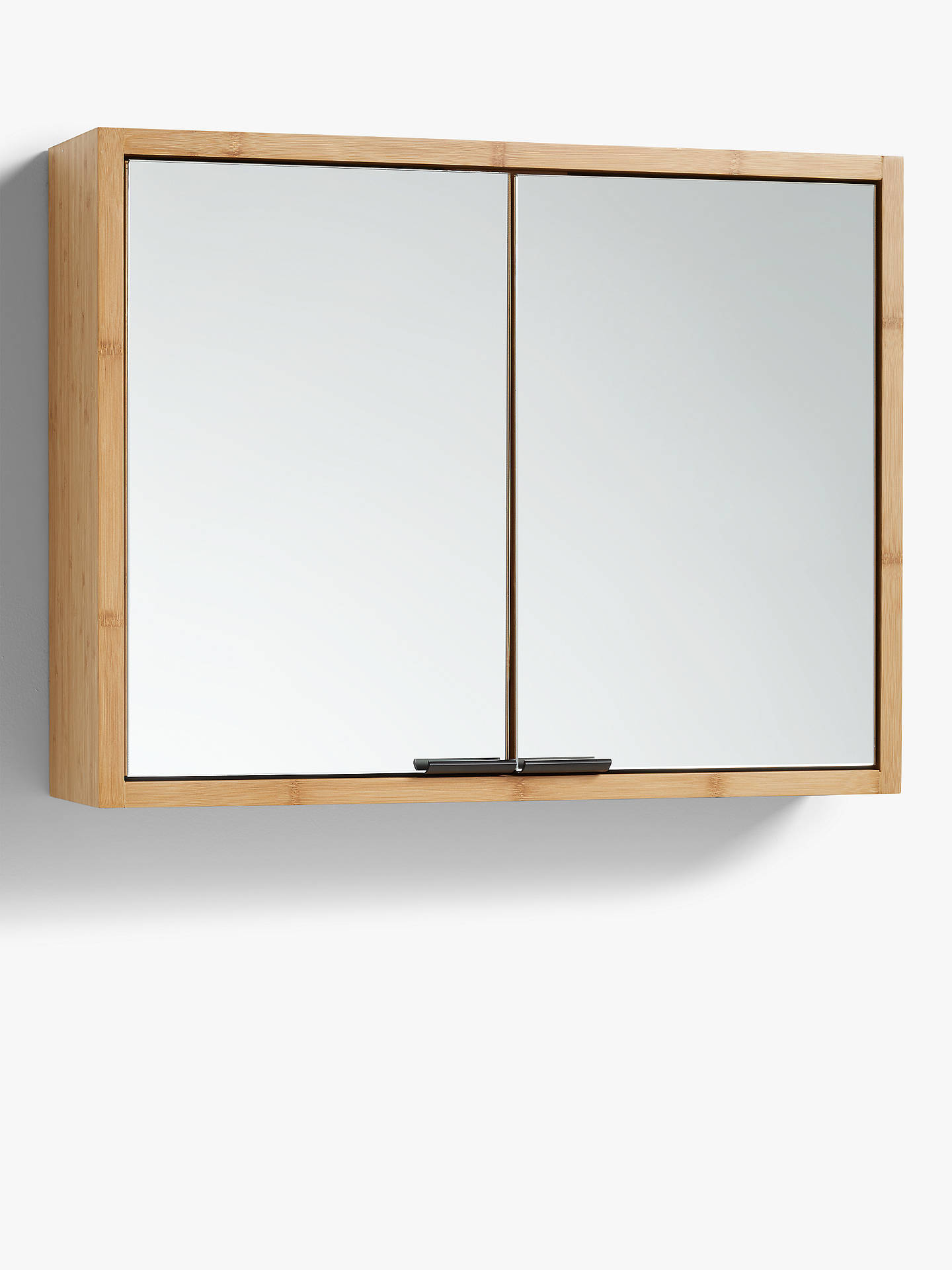John Lewis Partners Chevron Double Mirrored Bathroom Cabinet At John Lewis Partners