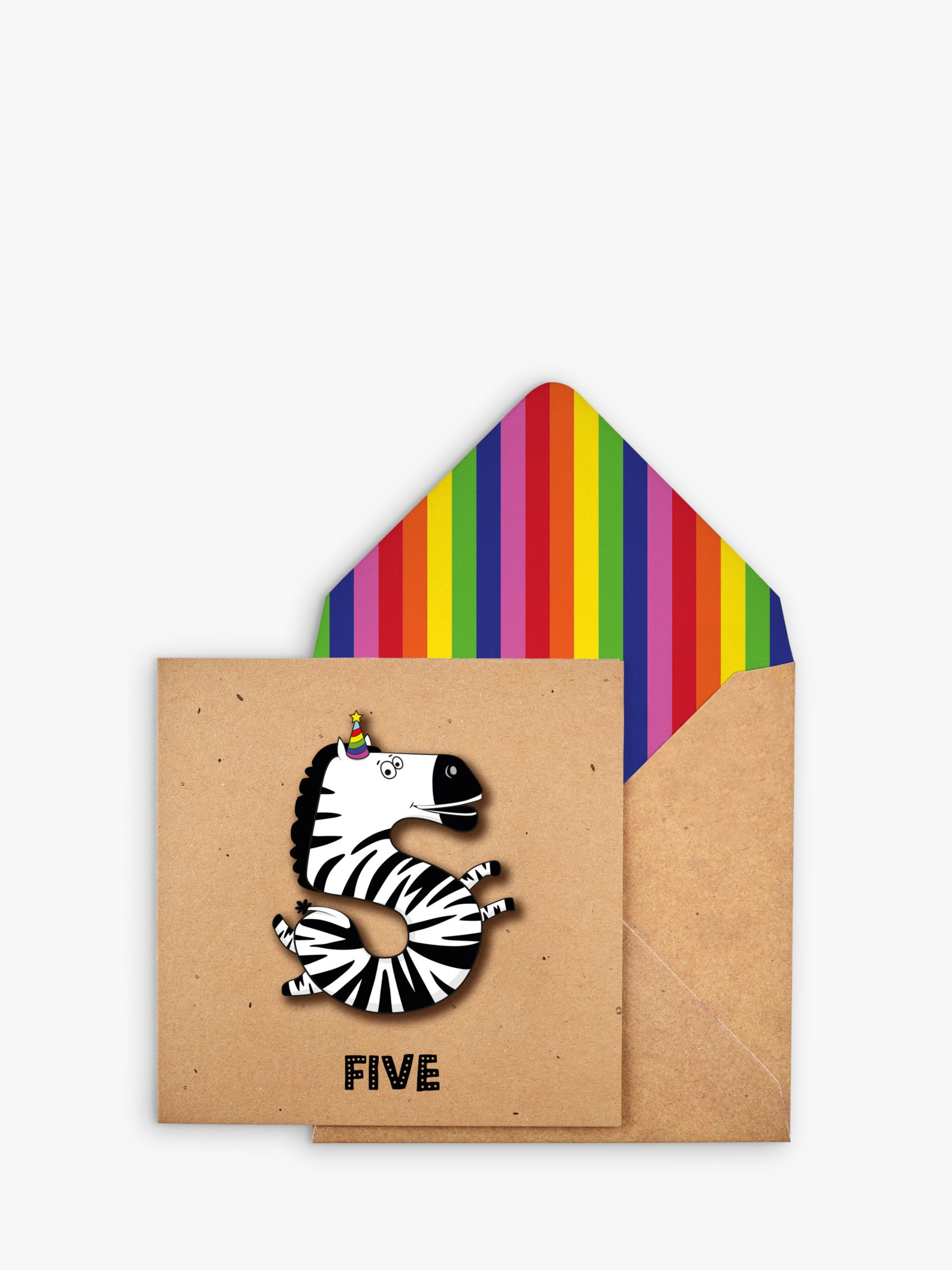 Tache Crafts Tache Crafts Zebra 5th Birthday Card
