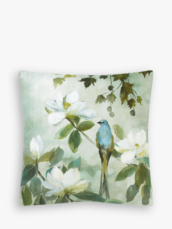 Designers Guild Designers Guild Kiyosumi Linen Cushion, Green / Multi