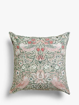 Morris & Co. Strawberry Thief Square Velvet Cushion