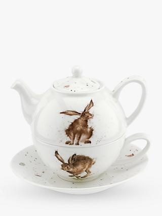 Wrendale Designs Hare Tea-For-One Teapot, 300ml, White/Multi