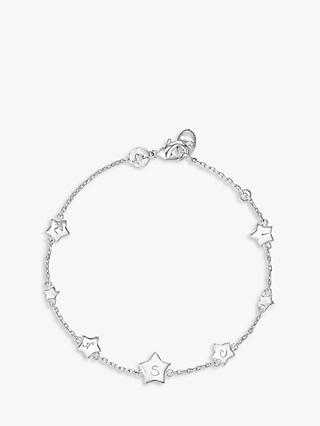 Merci Maman Personalised Initial Star Chain Bracelet