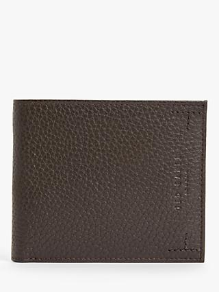 Ted Baker Curence Leather Bifold Wallet, Chocolate