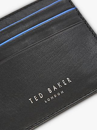 Ted Baker Kraspa Leather Card Holder, Black