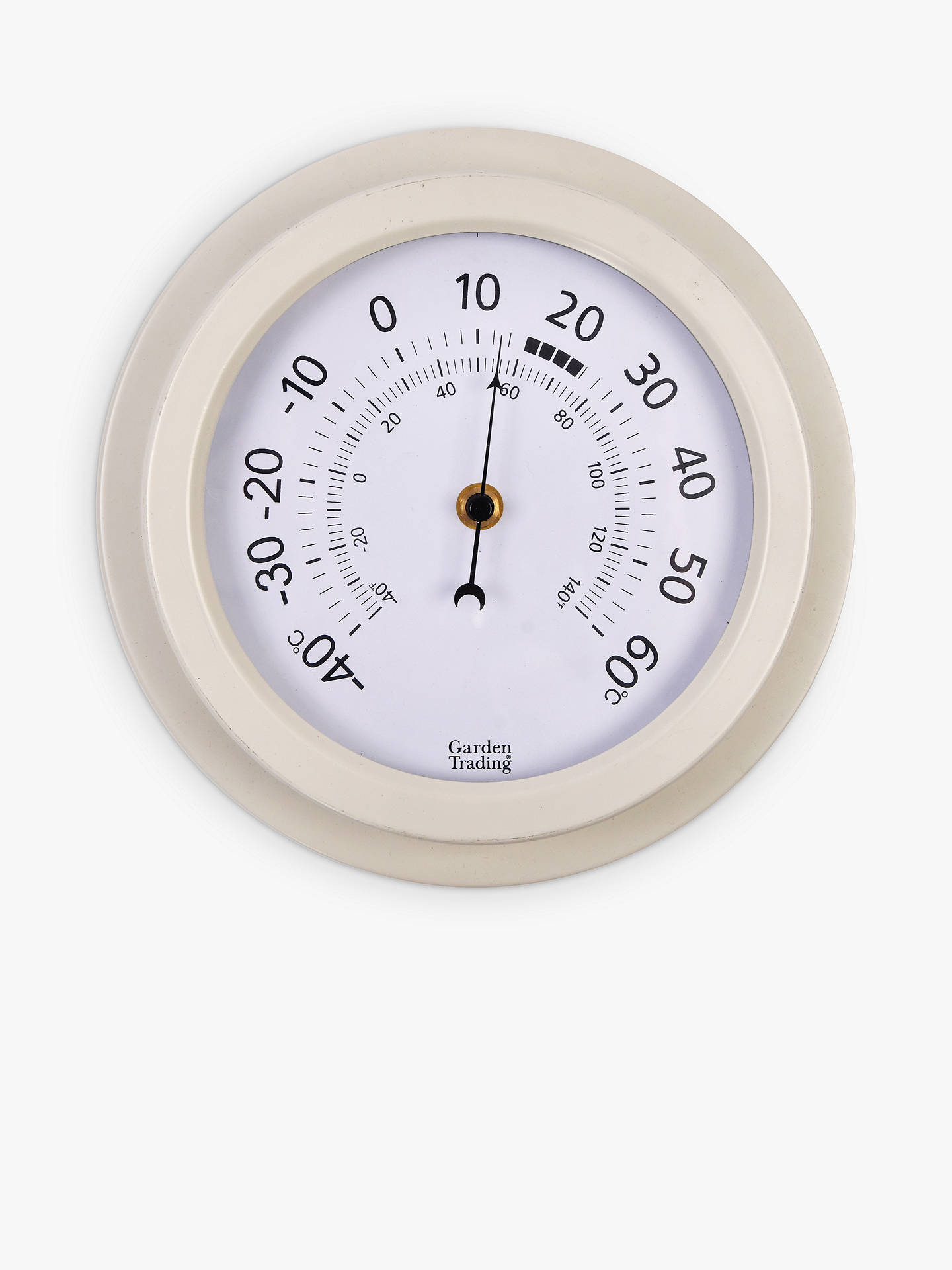 "Buy Garden Trading 8"" Outdoor Thermometer, 22cm, Tenby Lily White Online at johnlewis.com"