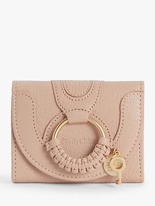 See By Chloé Hana Small Leather Purse, Powder