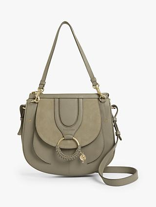See By Chloé Hana Suede Leather Double Handle Hobo Bag