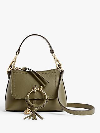 See By Chloé Mini Joan Leather Satchel Bag, Safari Khaki
