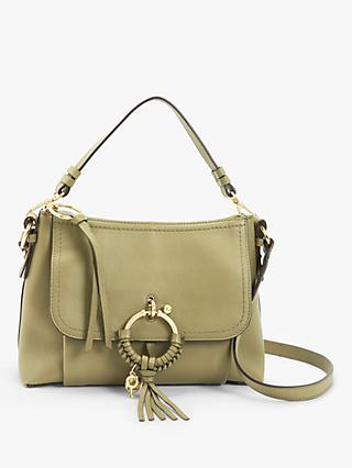 See By Chloé Joan Leather Small Satchel Bag, Safari Khaki
