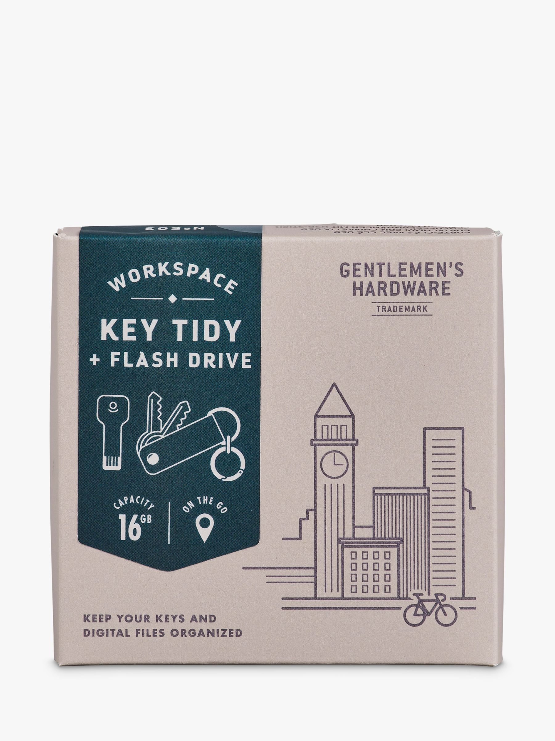 Gentlemen's Hardware Gentlemen's Hardware Flash Drive Key Tidy with USB