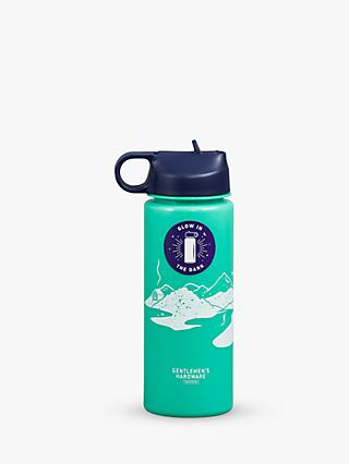 Gentlemen's Hardware Glow in the Dark Water Bottle, 700ml