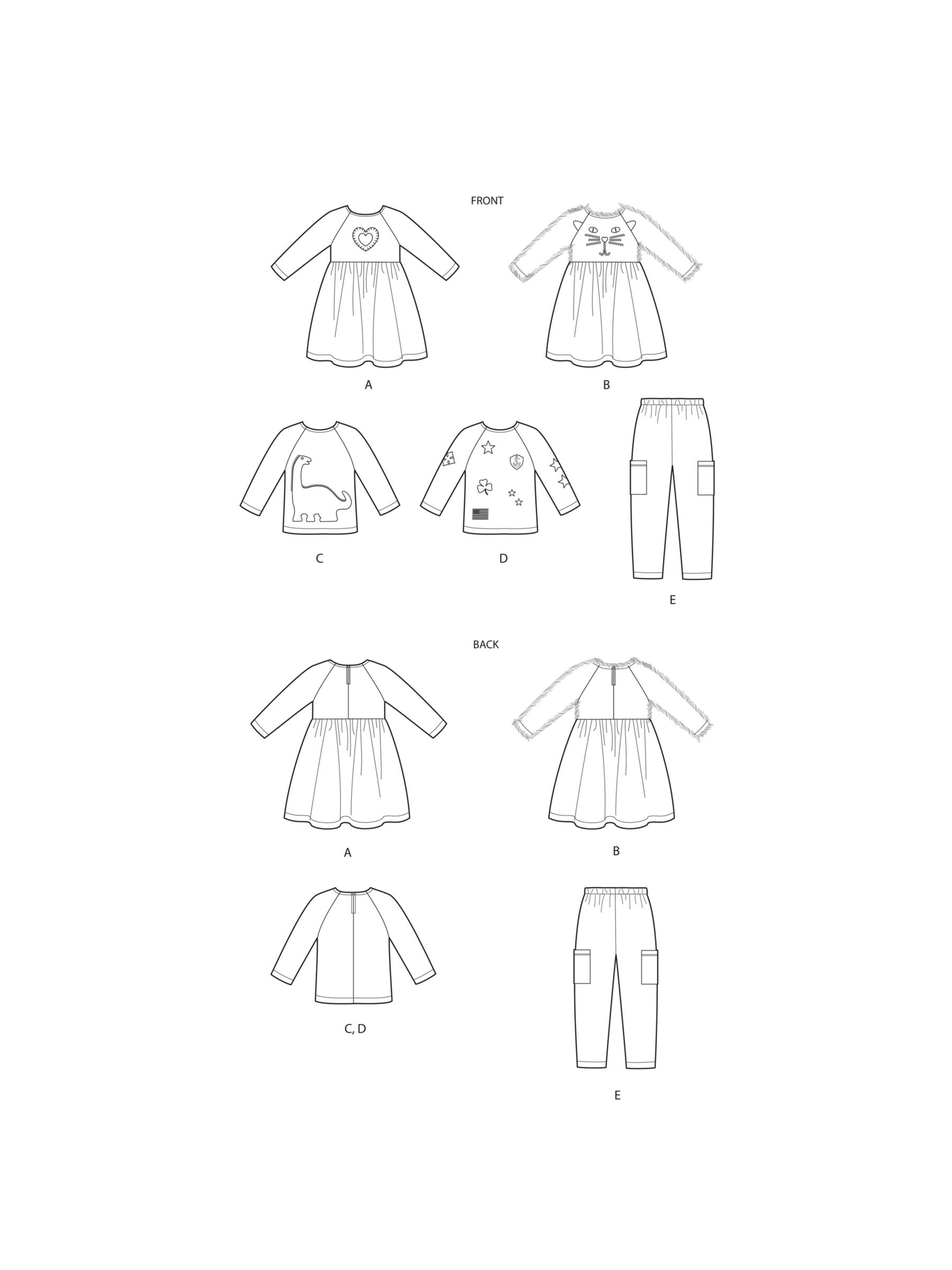 Simplicity Simplicity Toddlers' Sportswear Sewing Pattern, 9023, 6 months-4 years